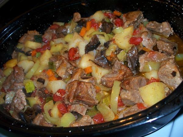 Картофель в мультиварке с мясом и овощами рецепты с фото