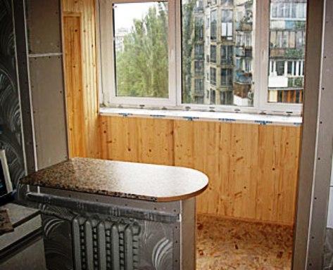 фотоэ как отделать балкон в кухне обычной тёшке