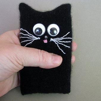 Чехлы на айфонВыкройка домика для кота своими