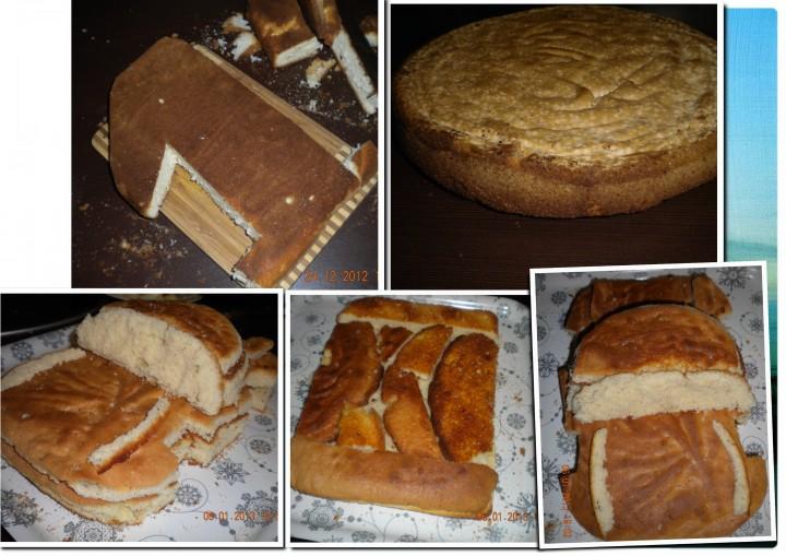 3. пока бисквит печется надо