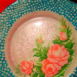 Декупаж тарелки для начинающих пошагово с из салфеток