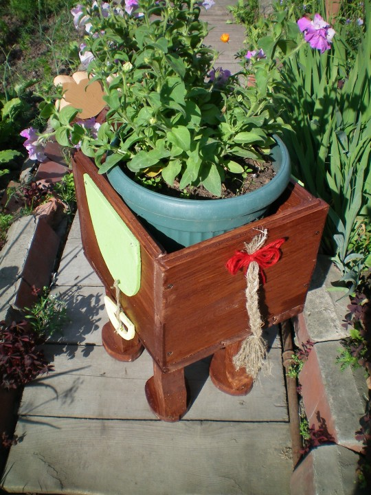 Кашпо садовое своими руками