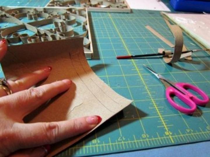 Имитация кованных изделий бумагой