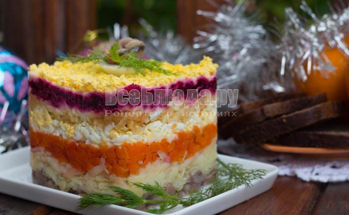 Селедка под шубой без яиц пошаговый рецепт с