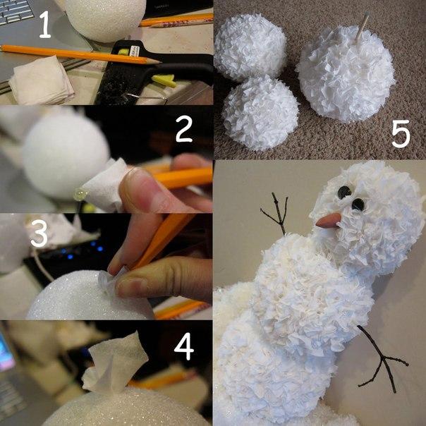 Как сделать игрушки из салфеток
