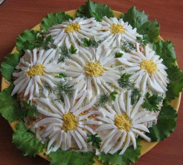 Красивое оформление салатов с фото