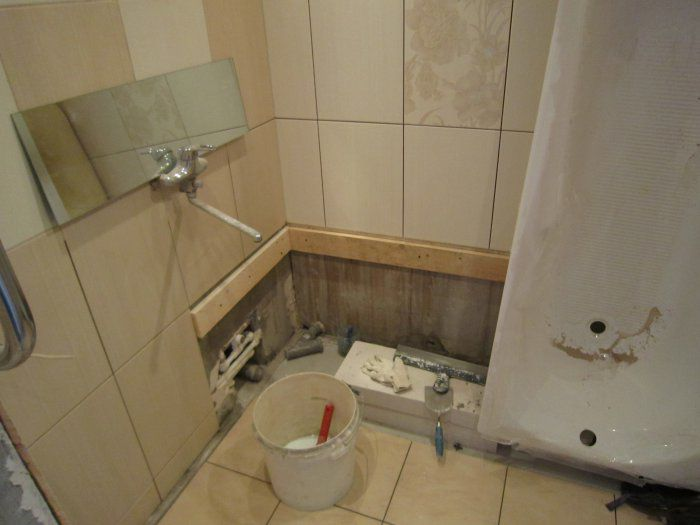 Поэтапно ремонт ванной