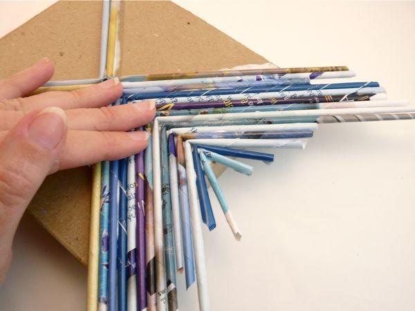 Коробка бумажных трубочек своими руками