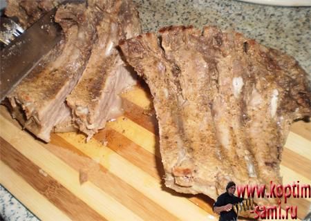 Мясо в духовке кусочками