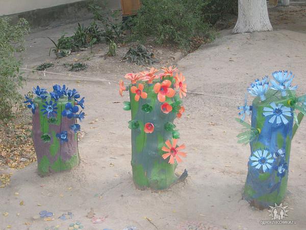 Несложные поделки для сада своими руками