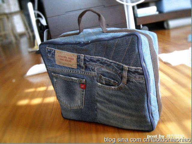 Сшить чехол для швейной машинки из старых джинсов 15