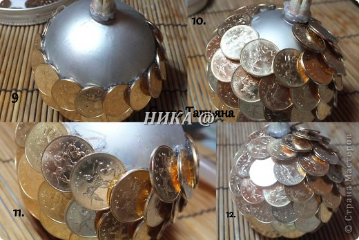 Дерево шар своими руками из монет
