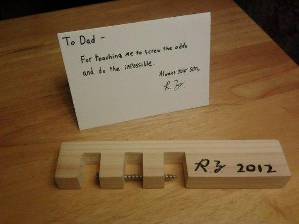 Что подарить папе на день рождения из дерева