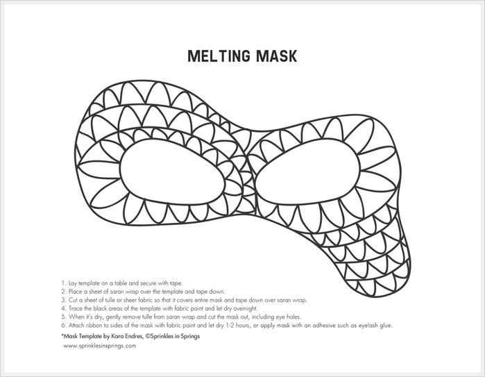 Карнавальная маска своими руками шаблон фото