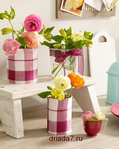 Цветы из ткани своими руками в вазу 88