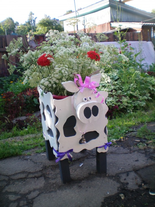 Кашпо для цветов из дерева своими руками для сада