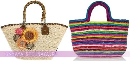 Символом лета и тепла являются пляжные плетеные сумки. . Изюминкой такого аксессуара часто являются их натуральные