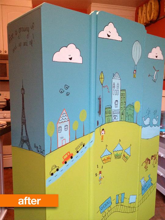 Как обновить шкаф в детской своими руками 83