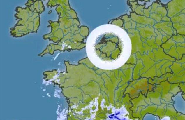 Кольцо над Бельгией - радарный глюк?