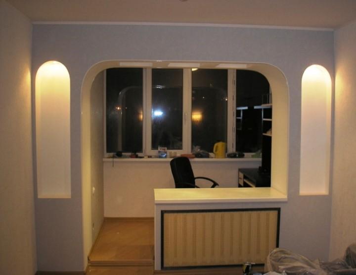 Как увеличить комнату за счет лоджии: перепланировка в соотв.