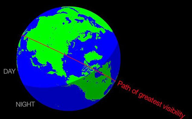 Особенно хорошо Жирафиды будут видны с территории США - прилетят ночью.