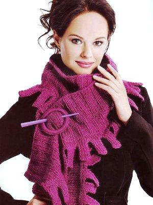 Как стильно носить шарф