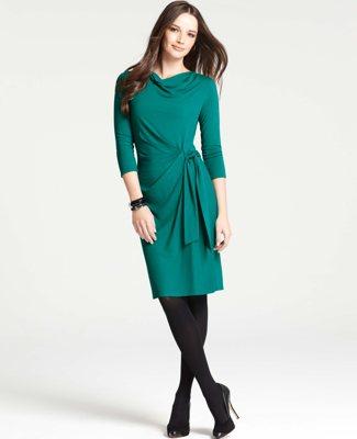 Осенний платья для офисный