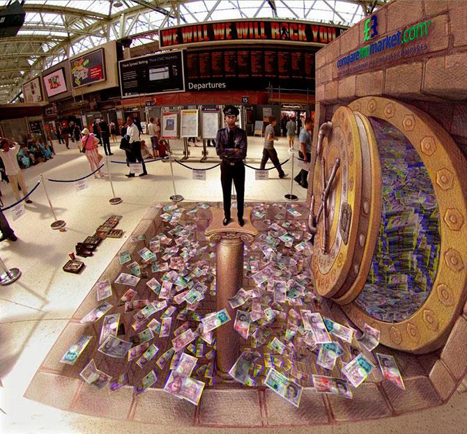 Новые 3D-рисунки уличного мастера Курта Веннера