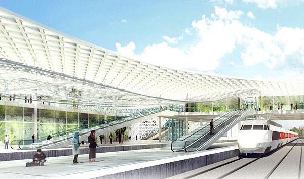 Кружевные формы железнодорожного вокзала в Марокко. Источник фото: Silvio d'Ascia Architecture