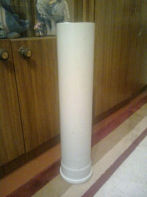 Напольная ваза из пластиковых труб своими руками