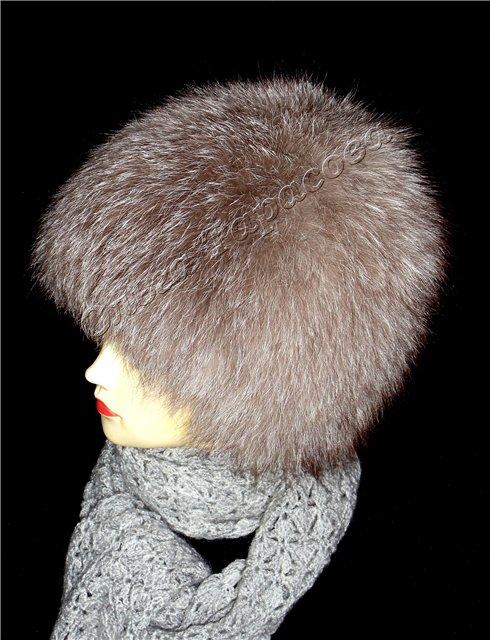 Вязаная шапка из старого меха