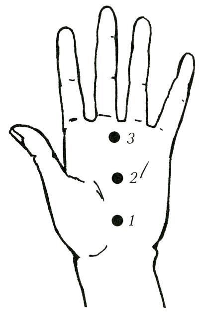 Точечный массаж картинки на руке