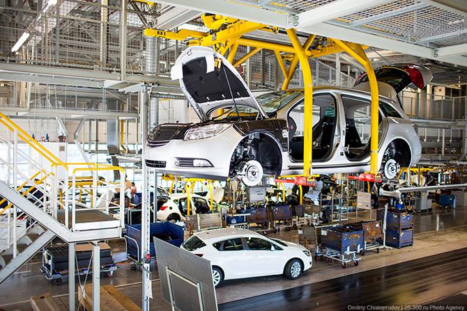 Завод по производству автомобилей Opel в Германии