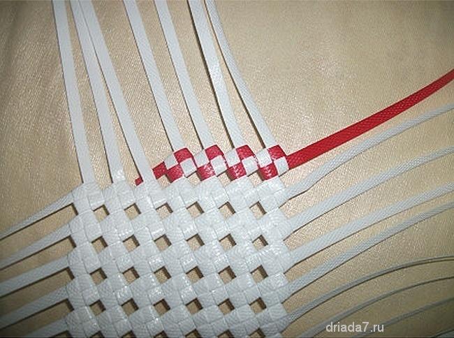 Плетение корзин из лент своими руками