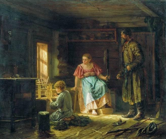 Василий Максимов.  Мальчик-механик, 1871