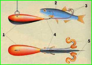 двойник в качестве дополнительной оснастки на каплевидной мормышке-«пульке»