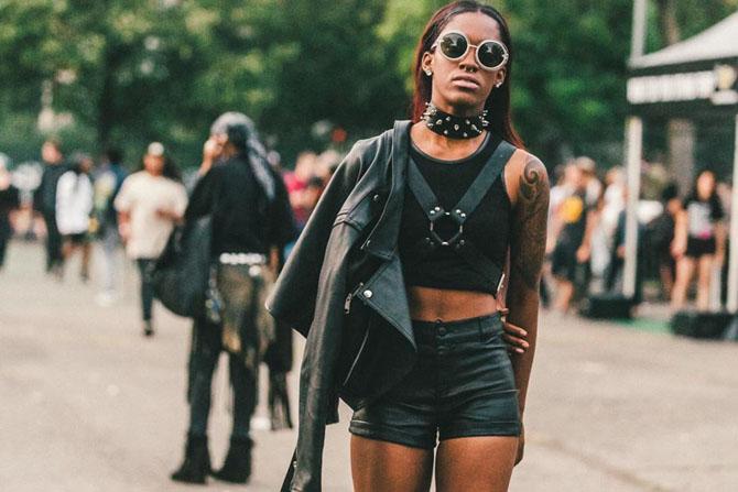 Самые стильные и красивые девушки фестиваля Afropunk-2014