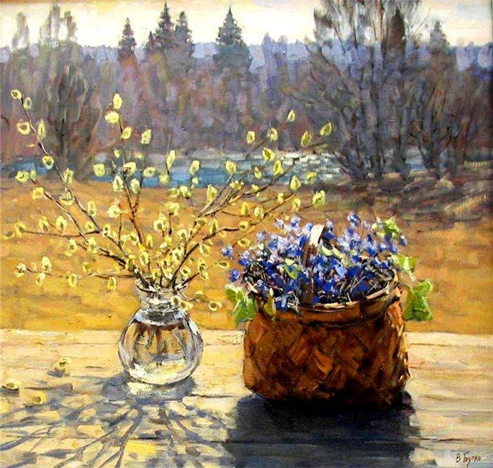 весна верба живопись возводится как препятствие