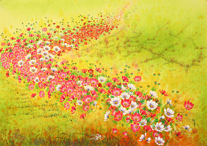 Влюблённый в космею. Потрясающие цветочные картины
