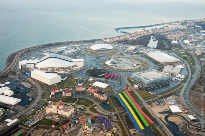 sochi23 800x532 Как выглядят Олимпийские объекты с воздуха