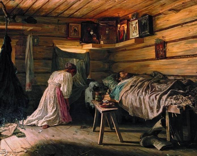 Василий Максимов. Больной муж, 1881