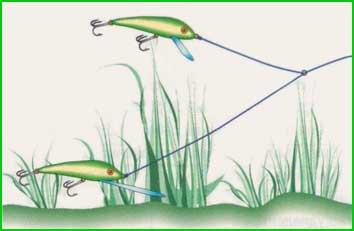 Тандемом из двух различных по плавательным характеристикам воблеров