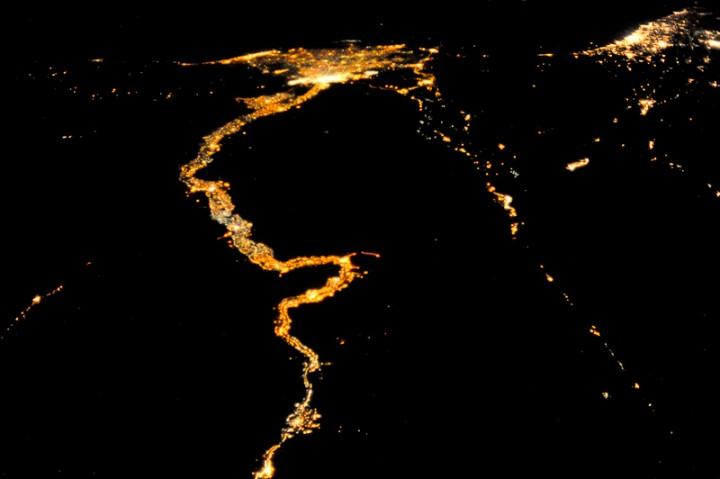 Нил, Каир из космоса (Nile,Cairo)