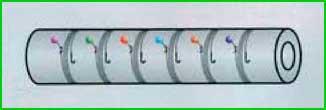 отрезки мягкой трубки из вспененного полиэтилена (рис.1)