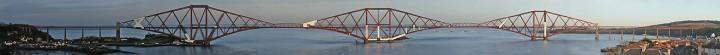 Панорама железнодорожного моста через Ферт-оф-Форт