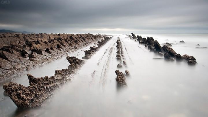 turbidites10 Турбидиты   необычные образования на побережье Испании