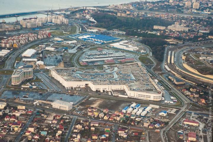 sochi27 Как выглядят Олимпийские объекты с воздуха